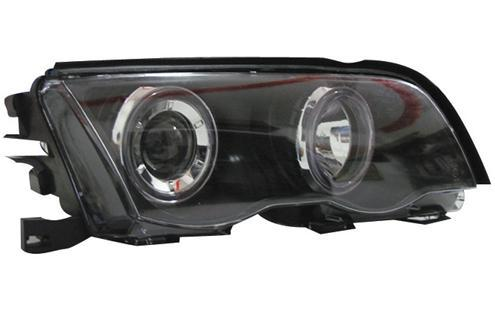 BMW 3 Series E46 `98 4D Head Lamp Projector W/Rim [BM02-HL07-U]