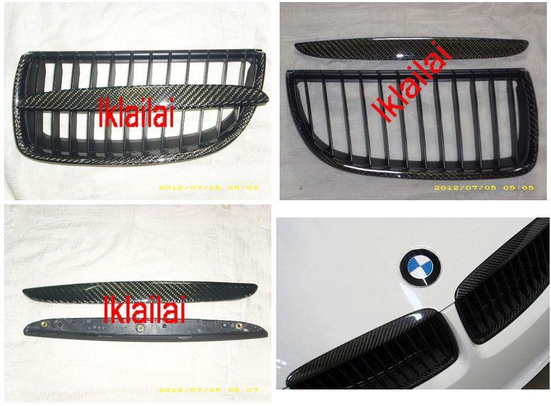BMW 3 Series E90 '05 Front Grille W/Carbon [4pcs/set][BM03-FG03-U]