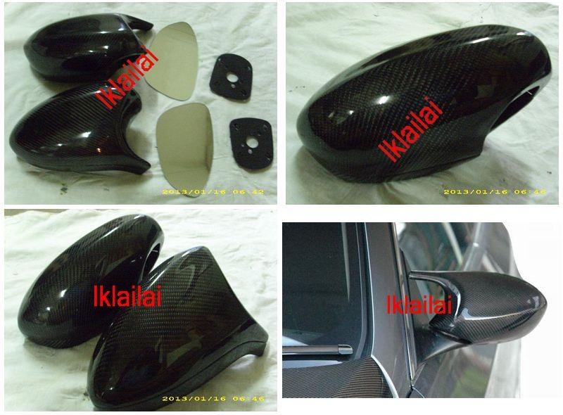 BMW 3 Series E92 `07 Door Mirror M3 Style Carbon + Blue Lens Mirror