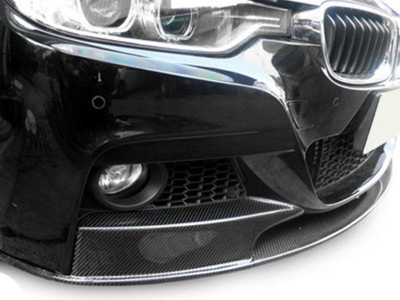 BMW 3 Series F30 '12 M-TEK Performance Front Lip W/Carbon [3pcs]