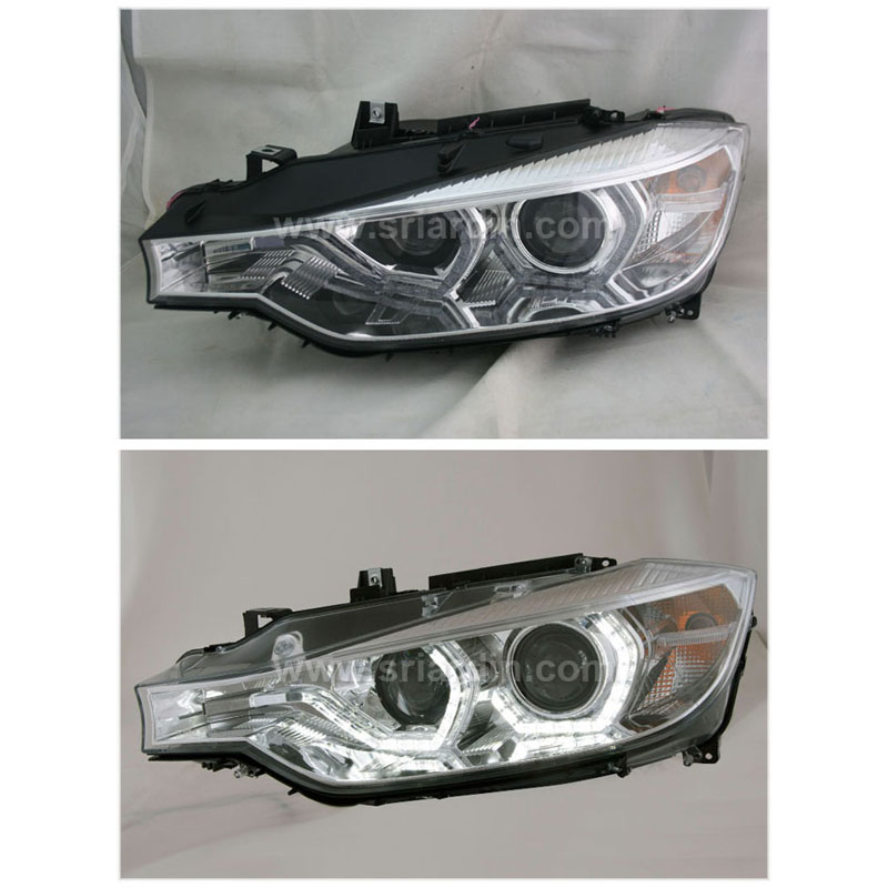 BMW 3 Series F30 13-15 Projector Head Lamp with Crystal Bar