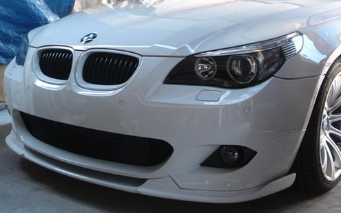 BMW 5 Series E60 `03-09 M-TECH Front Bumper Lip Hamann Style W/Carbon