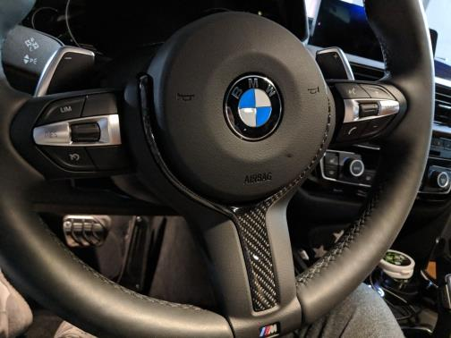 BMW Carbon Fiber Steering Wheel Trim for F20 F22 F30 F32 F33 F36 X5 X6