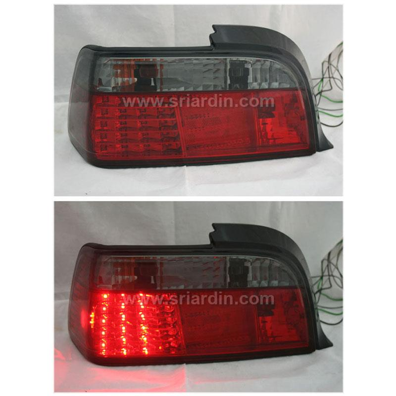 BMW E36 2 Door 92-98 Red Smoke LED Tail Lamp