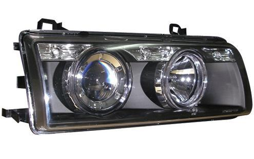 BMW E36 '91-97 LED Rim Projector Head Lamp Crystal (BM01-HL05-U