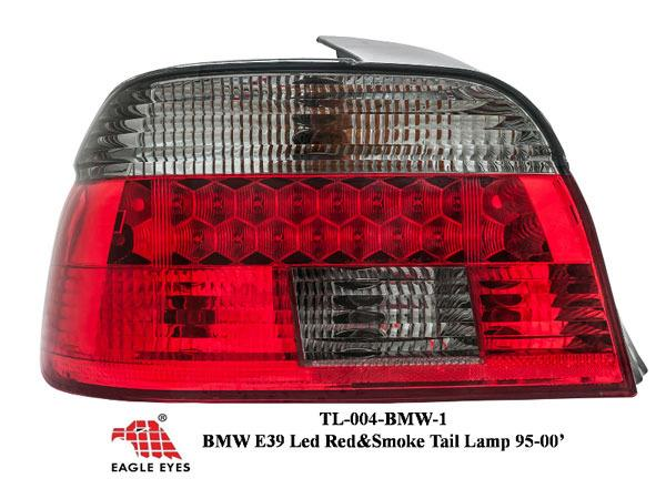 BMW E39 5-Series 1995-2000 EAGLE EYES Red Smoke LED Crystal Tail Lamp