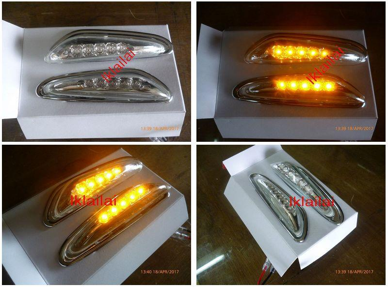 BMW E46 4D '02 / E60 Crystal LED Side Lamp/Fender Lamp [Clear] 1-pair