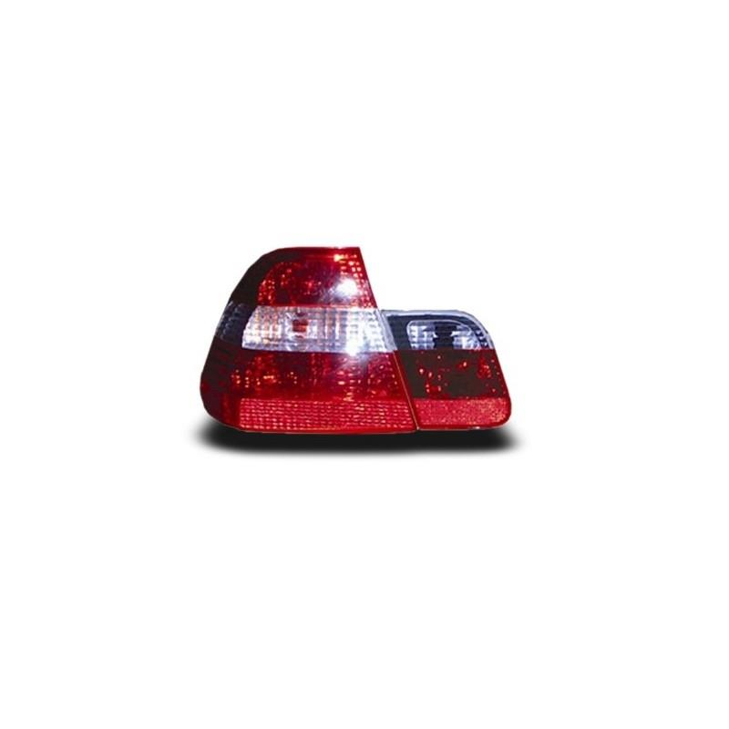 BMW E46 4D 3-Series 2002 - 2005 EAGLE EYES Crystal Red Clear Tail Lamp