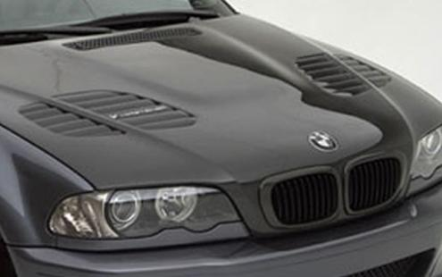 Bmw E46 98 02 2d 4d Engine Hood Gtr Style Carbon Frp Vent