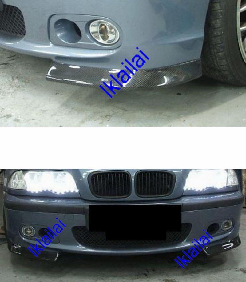 Bmw E46 98 04 M Tech Smg Front Bumper Splitter W Carbon Bm02 Bk18 U