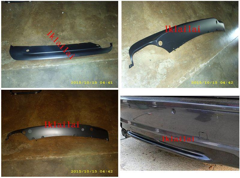 BMW E46 '98-04 M-TECH [SMG] Rear Bumper Lower Strip Diffuser PP