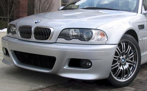 BMW E46 `98-04 M3 Style Front Bumper W/ Grille+Tow Hook Cover+FOG LAMP