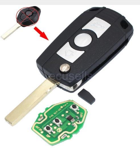 Bmw E81 E46 E39 E63 E38 Folding Remote Key Case