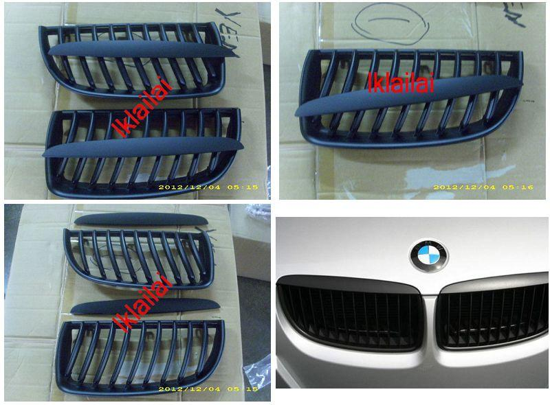 BMW E90 '05 Front Grille All Black [4pcs/set] [BM03-FG02-U]