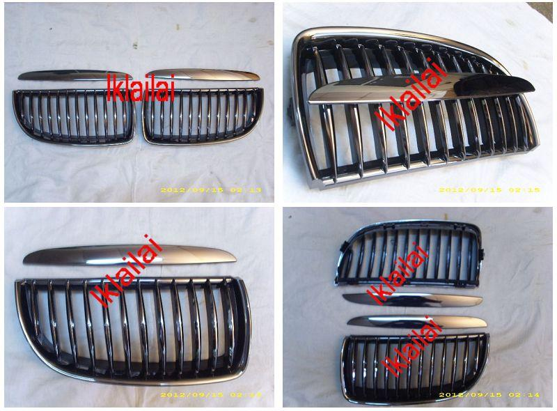 BMW E90 '05 Front Grille Black Chrome [4pcs/set] [BM03-FG04-U]