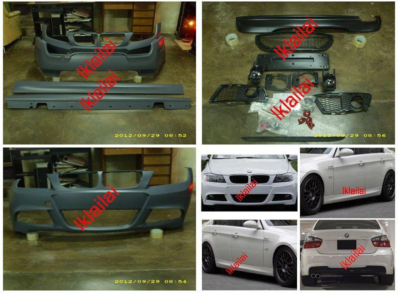 BMW E90 '09 M-Tek Full Set PP Body Kit [Front /Rear Bumper/Side Skirt]