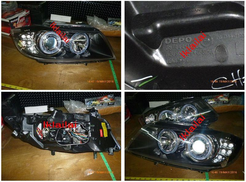 BMW E90 LED Ring Projector Head Lamp with LED Corner Lamp