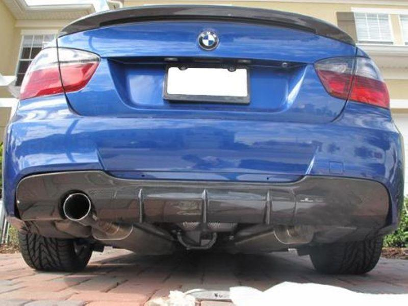 BMW E90 M-TECH Rear Bumper Diffuser Sport W/ Carbon 1 Hole / 2 Hole