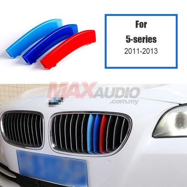 BMW F10 5-Series 2011-17 3D Front Grill M 3 Tone Color ABS Clip Cover