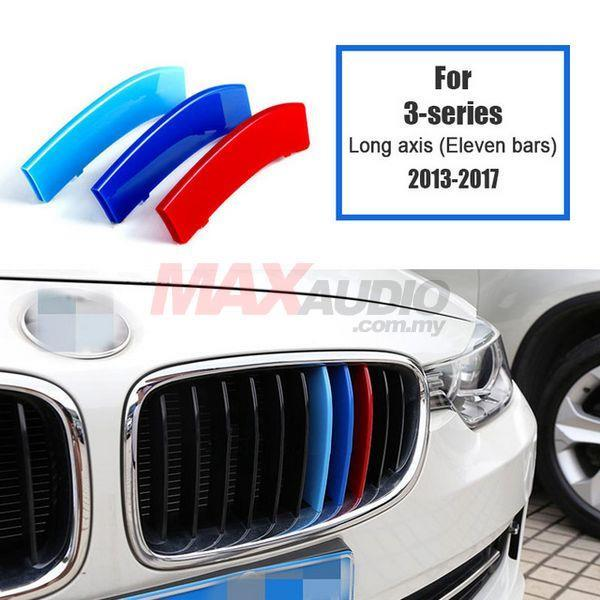 BMW F30 3-Series 2011-18 3D Front Grill M 3 Tone Color ABS Clip Cover