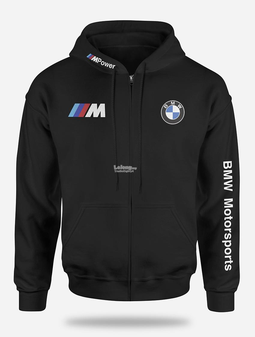 BMW M Full Zip Hooded Sweat Shirt