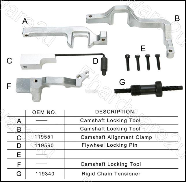 BMW Mini Cooper N12 N14 Citroen Peugeot Engine Timing Tool Kit (4915)