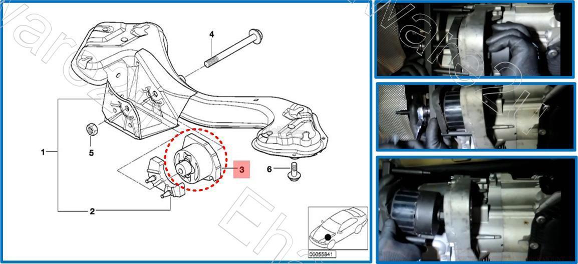 BMW X3 X5 X6 Transfer-Case Transmission Rubber Mount Bush Tool (4221)