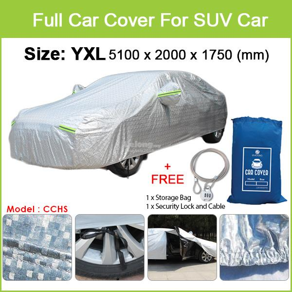 BMW X4/ X5/ X6 - Size YXL Full Car Cover Rain Dust Sunlight Protection