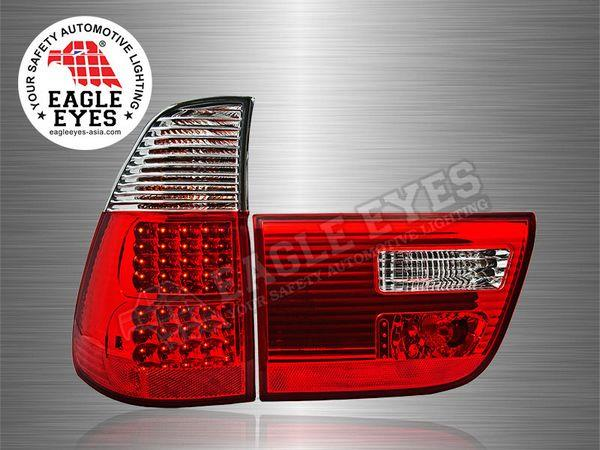 BMW X5 2000 - 2005 EAGLE EYES Red Clear LED Tail Lamp (Pair)