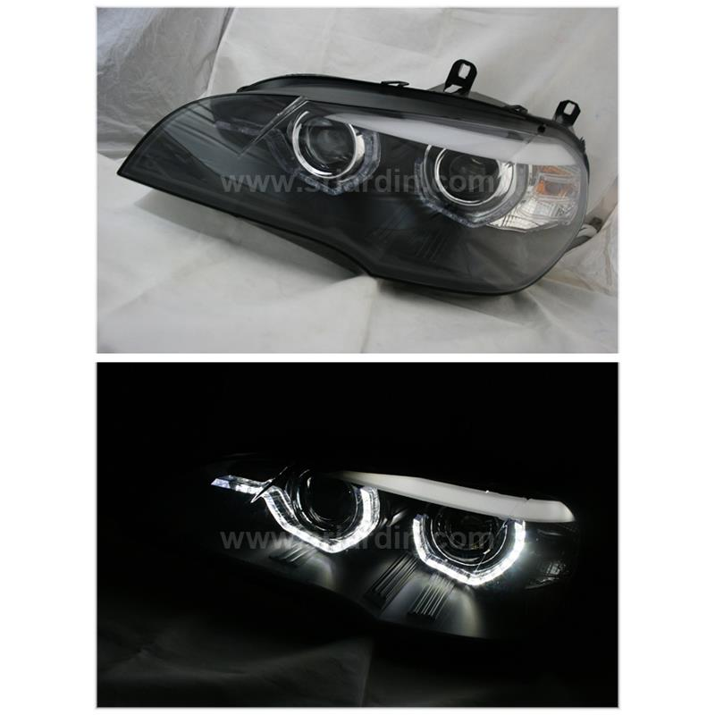 BMW X5 E70 08- Projector Head Lamp w Crystal Bar