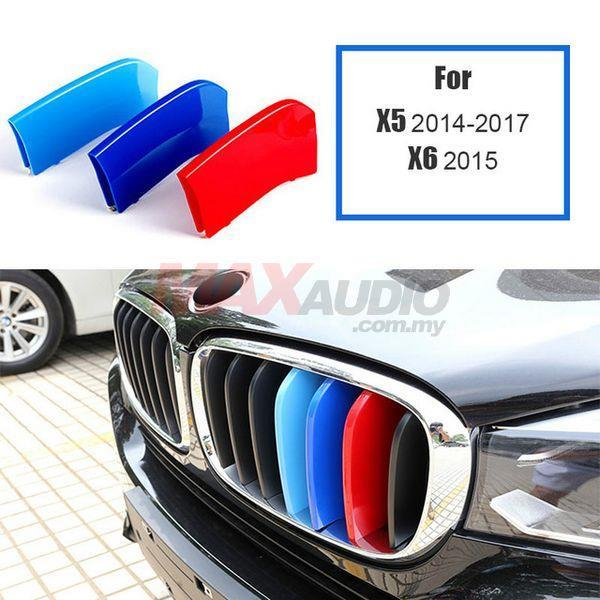 BMW X5/X6 2014 - 2018 3D Front Grill M 3 Tone Color ABS Clip Cover
