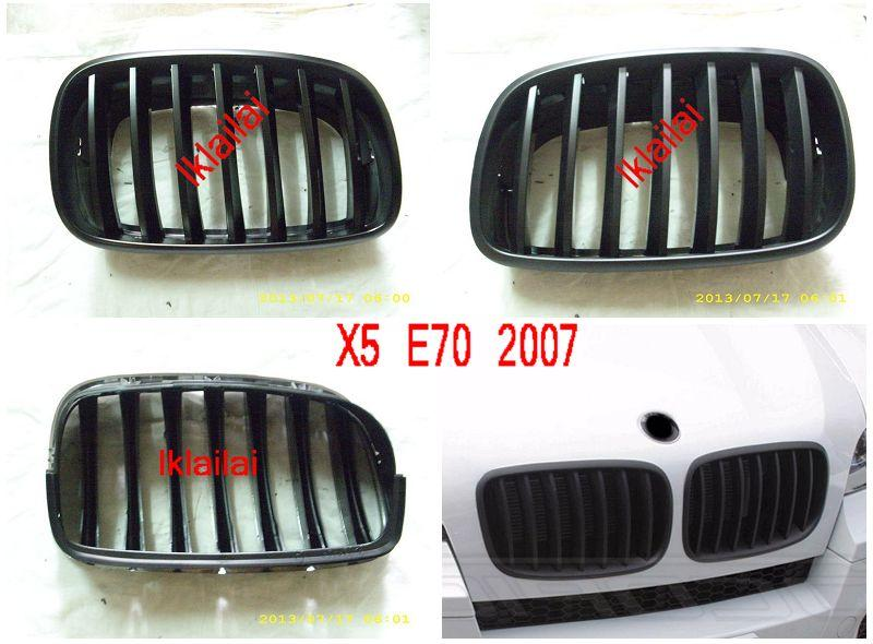 BMW  X6 Series E71 `07 / BMW X5 E70 `07 Front Grille All Black