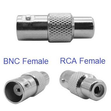 BNC Female to RCA Female Adapter (2pcs)
