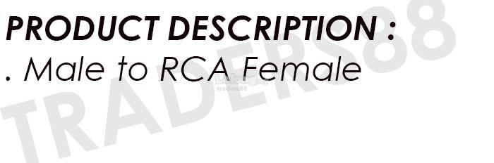 BNC Male to RCA Female