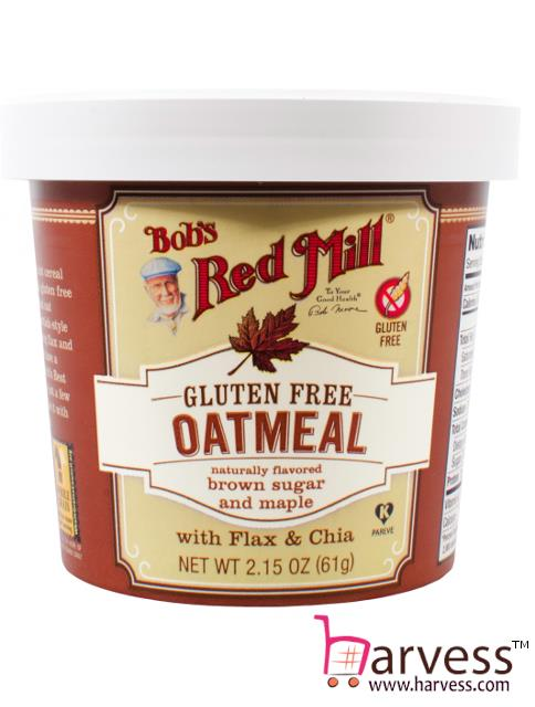 BOB'S RED MILL Gluten Free Oatmeal Brown Sugar & Maple w/ Flax & Chia