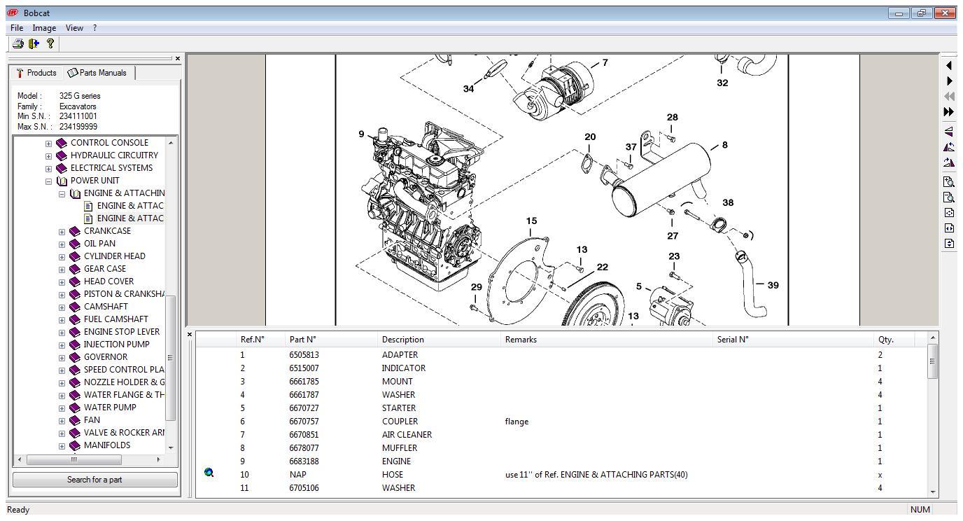 Bobcat Equipment Parts Manual John Deere Alternator Wiring Diagram 15 Mini Exc Catalogs R End 6 18 2019 11 Am Rh Lelong Com My S185 T300