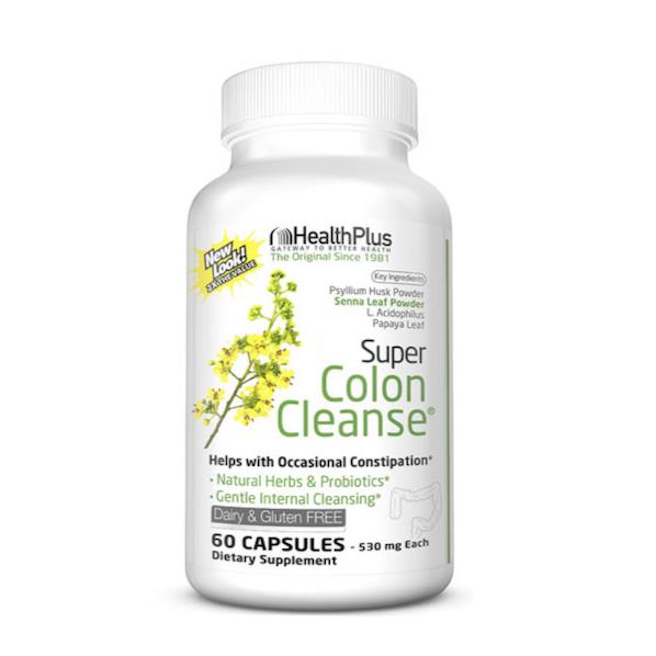 Body Cleansing & Detox, Super Colon Cleanse 530mg, Made in USA