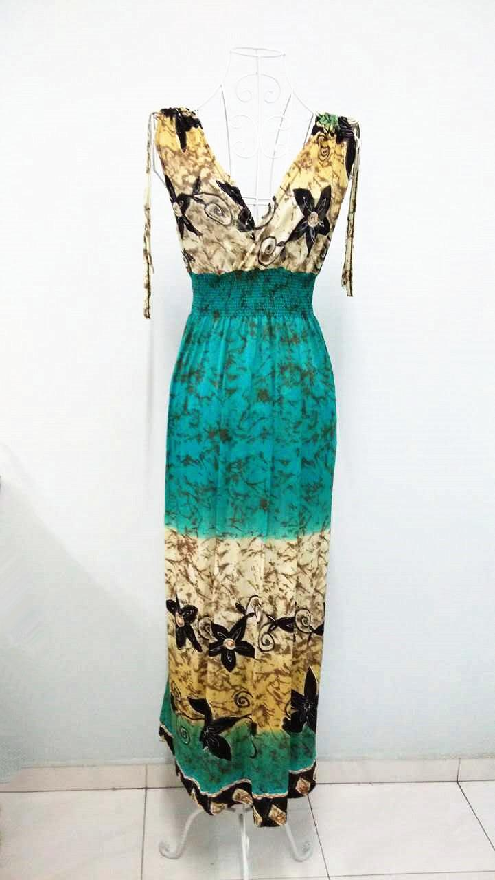 Bohemian Style Ice Silk V Long Dress (13)