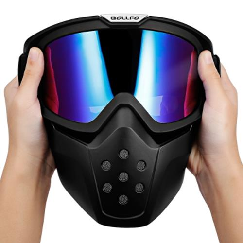 22bcc2cf9f BOLLFO BF656 MOTORCYCLE MASK GOGGLES FOR MOTOCROSS RIDING (BLUE)