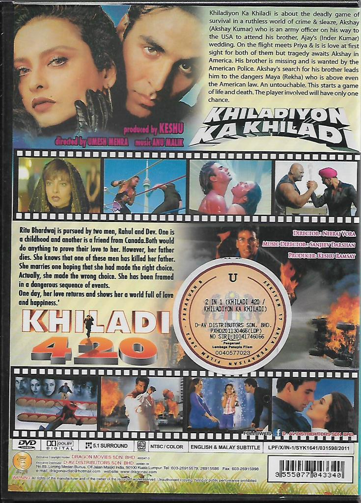 Bollywood Hindi Movie DVD Khiladiyo (end 1/17/2021 12:00 AM