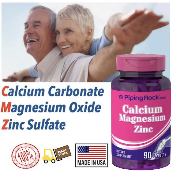 Bone Health, Calcium, Magnesium & Zinc, 100% Vegetarian (USA)