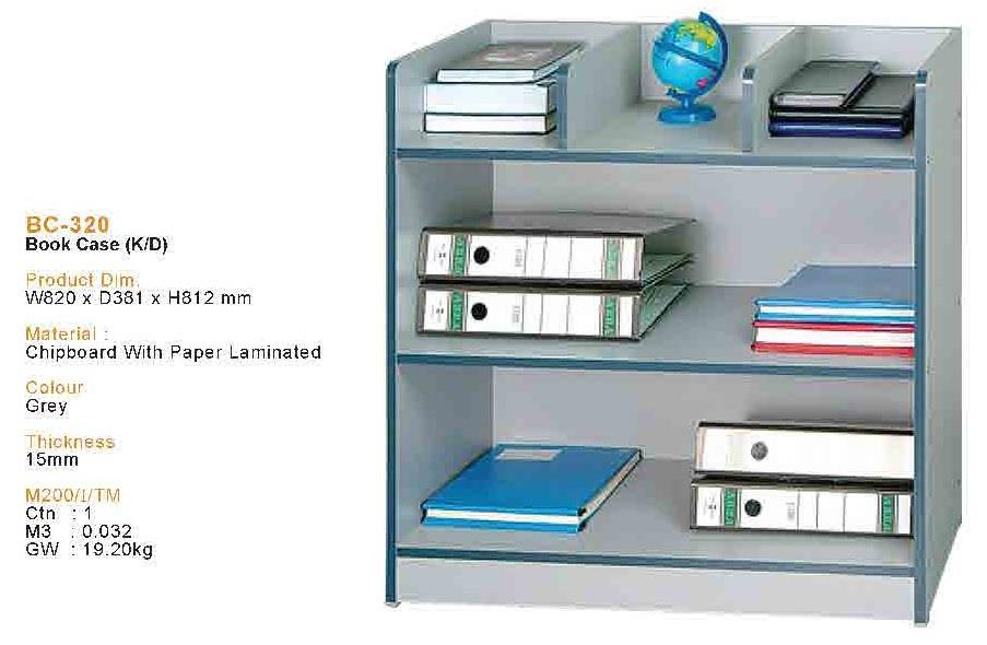 Book Case (BC-320-GY)