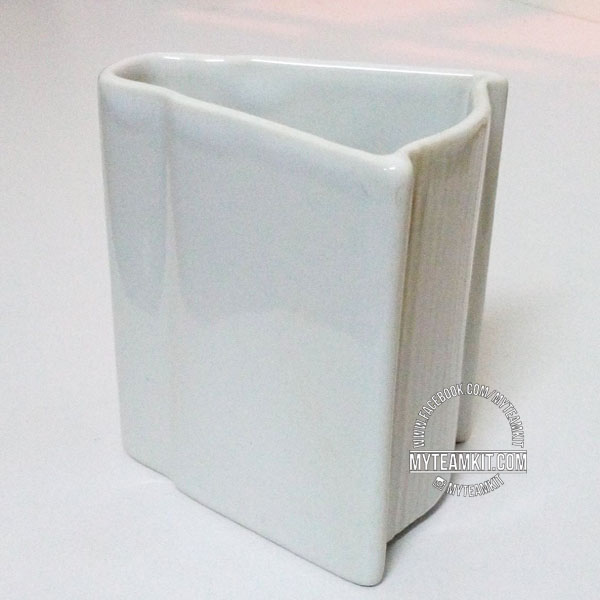 Book Shape Pen Holder (white)
