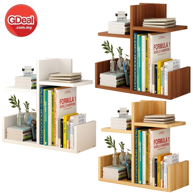 Bookshelf Simple Desktop Rack Combination Bookcase Modern Table Shelf