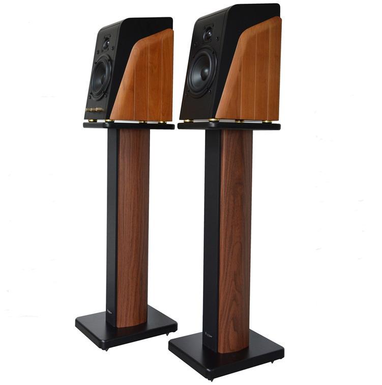Bookshelf Speaker Stand Hi Fi Wooden KRK Rokit Yamaha Dynaudio