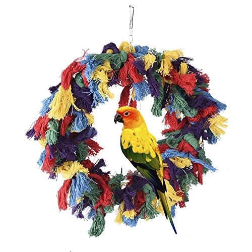 Borangs Bird Toys Parrot Shredding Toys Birds Cotton Preening Grooming Ropes C