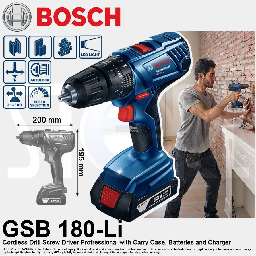 Bosch 18V Combo Cordless Impact Drill & 18V Vacuum Cleaner