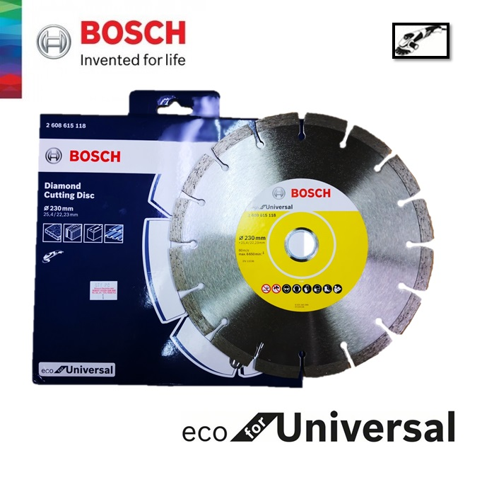Bosch 9 Inch 230mm Eco Universal Diamond Cutting Disc - 2608615118