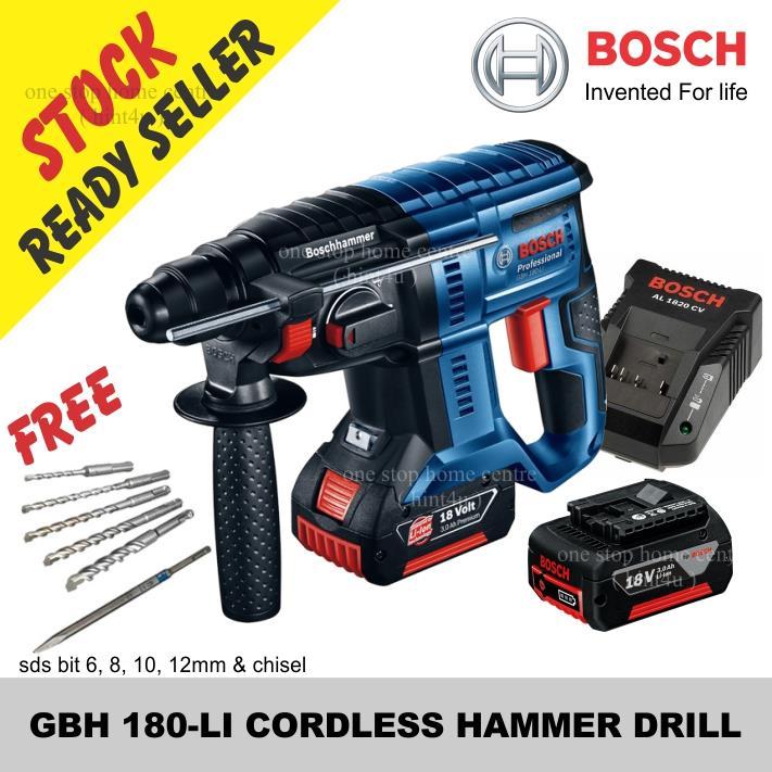bosch gbh 180 li cordless hammer dr end 5 28 2020 10 15 pm. Black Bedroom Furniture Sets. Home Design Ideas