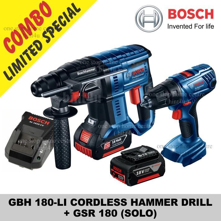 bosch gbh 180 li cordless hammer dril end 8 5 2019 7 15 am. Black Bedroom Furniture Sets. Home Design Ideas